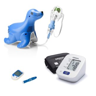 Kraujospūdžio matuokliai, inhaliatoriai, termometrai ir gliukomačiai